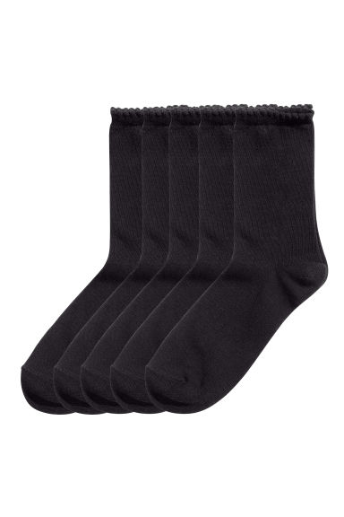 5-pack socks - Black - Ladies | H&M CN