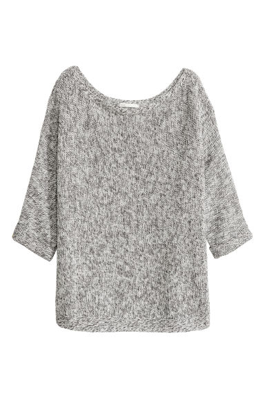 Purl-knit jumper - Grey -  | H&M