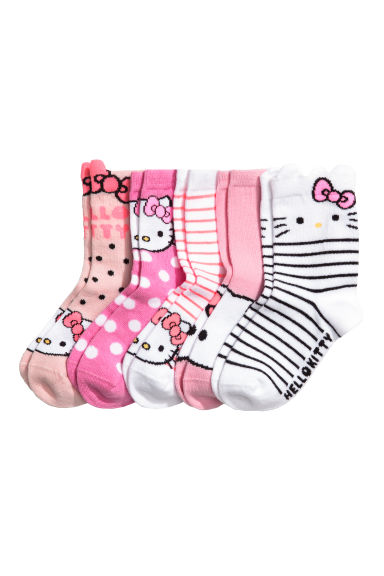 5er-Pack Socken - Rosa/Hello Kitty - KINDER | H&M CH