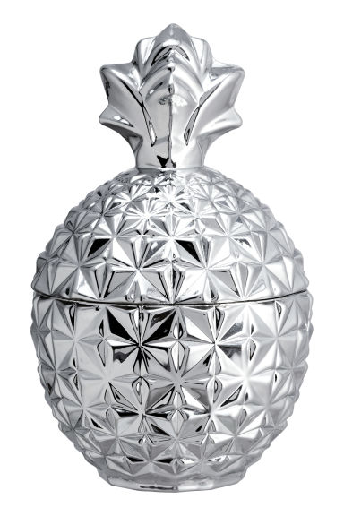 Pineapple-shaped glass jar - Silver - Home All | H&M GB