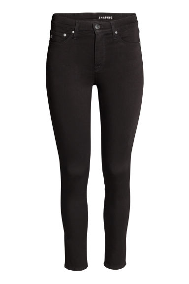 Shaping Skinny Ankle Jeans - Black/No fade black - Ladies | H&M