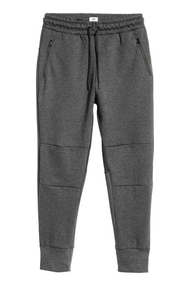 平紋運動慢跑褲 - Dark grey marl - Men | H&M