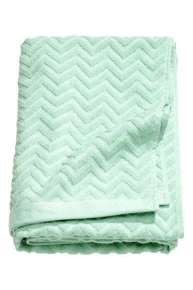 Jacquardgeweven badhanddoek - Mintgroen - HOME | H&M BE