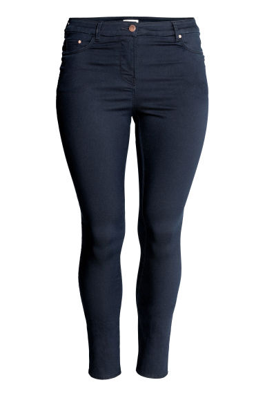 H&M+ Stretch trousers - Dark blue - Ladies | H&M CN