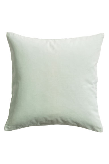 Velvet cushion cover - Mint green - Home All | H&M CN