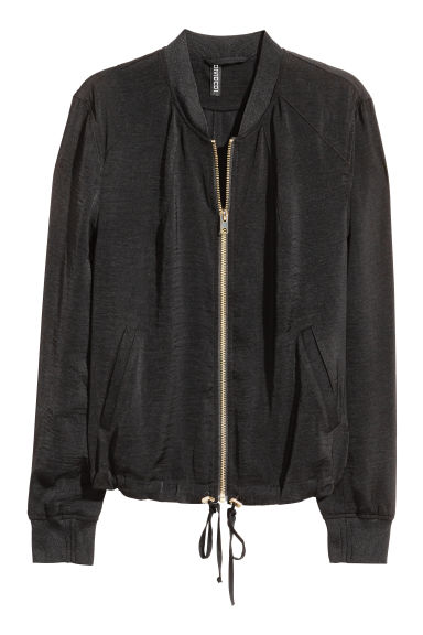 Bomber jacket - Black/Gold - Ladies | H&M