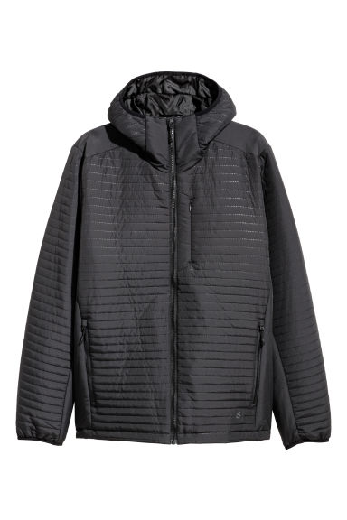 Quilted outdoor jacket - Black -  | H&M