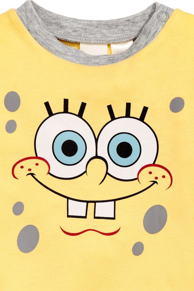 d922bdf023 Pigiama intero con stampa - Giallo/Spongebob - BAMBINO   H&M ...