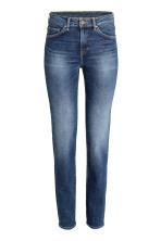 Dark denim blue rugged rinse