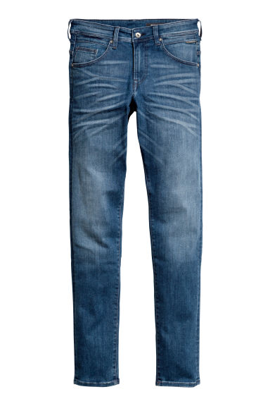 Tech Stretch Slim Low Jeans - 深牛仔蓝 - Men | H&M CN