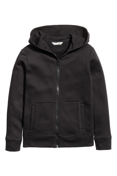 Hooded jacket - Black - Kids | H&M CN