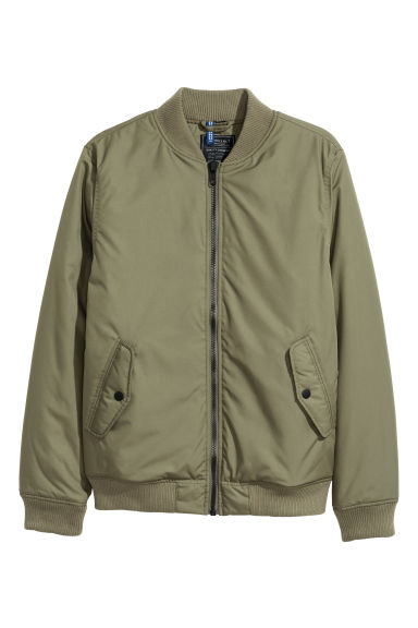 Bomber jacket - Khaki green - Men | H&M GB