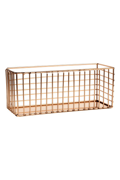 Metal wire basket - Copper - Home All | H&M GB