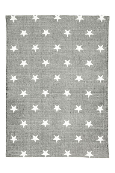 Star-print cotton rug - Grey - Home All | H&M GB
