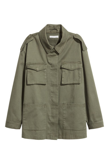 Cargo jacket - Khaki green - Ladies | H&M CA