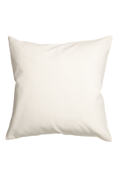 Cotton canvas cushion cover - White -  | H&M IE