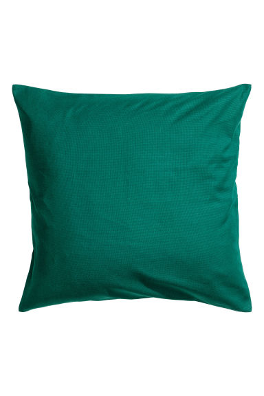 Cotton canvas cushion cover - Dark green - Home All | H&M IE