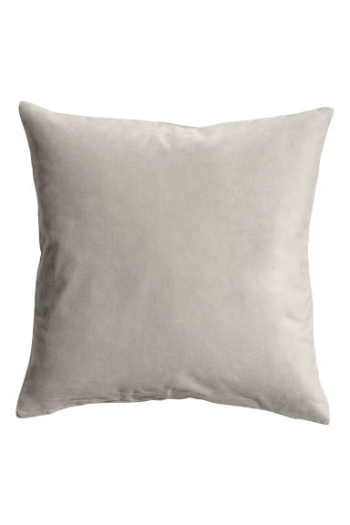 Velvet cushion cover - Mole-grey - Home All | H&M GB