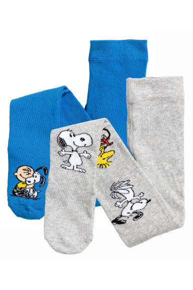 Lot de 2 collants - Gris/Snoopy -  | H&M FR