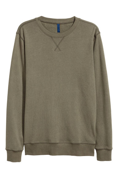 Lightweight sweatshirt - Khaki green - Men | H&M CN