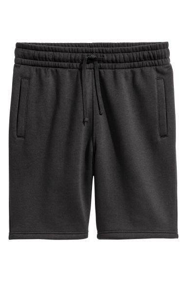 Short van joggingstof - Zwart - HEREN | H&M BE