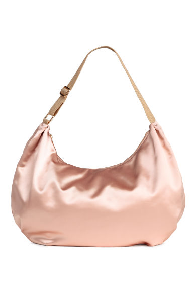 Satin hobo bag - Powder pink - Ladies | H&M CN