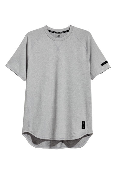 Short-sleeved sports top - Grey marl - Men | H&M GB