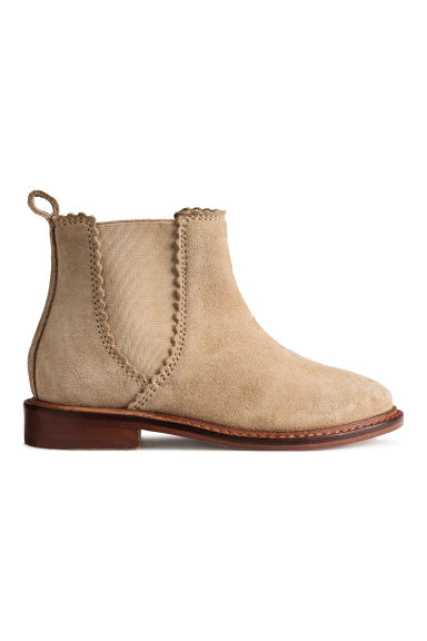 Bottines en daim - Beige -  | H&M BE
