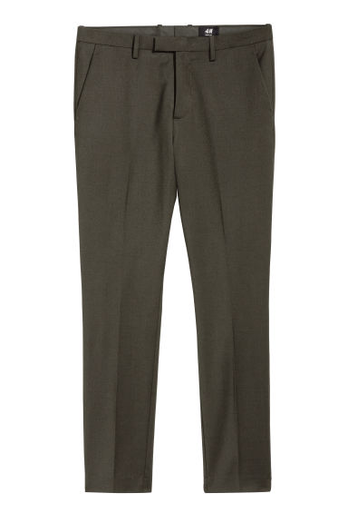 Suit trousers Skinny fit - Dark khaki green -  | H&M