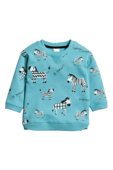 Sweatshirt with a motif - Turquoise - Kids | H&M CA