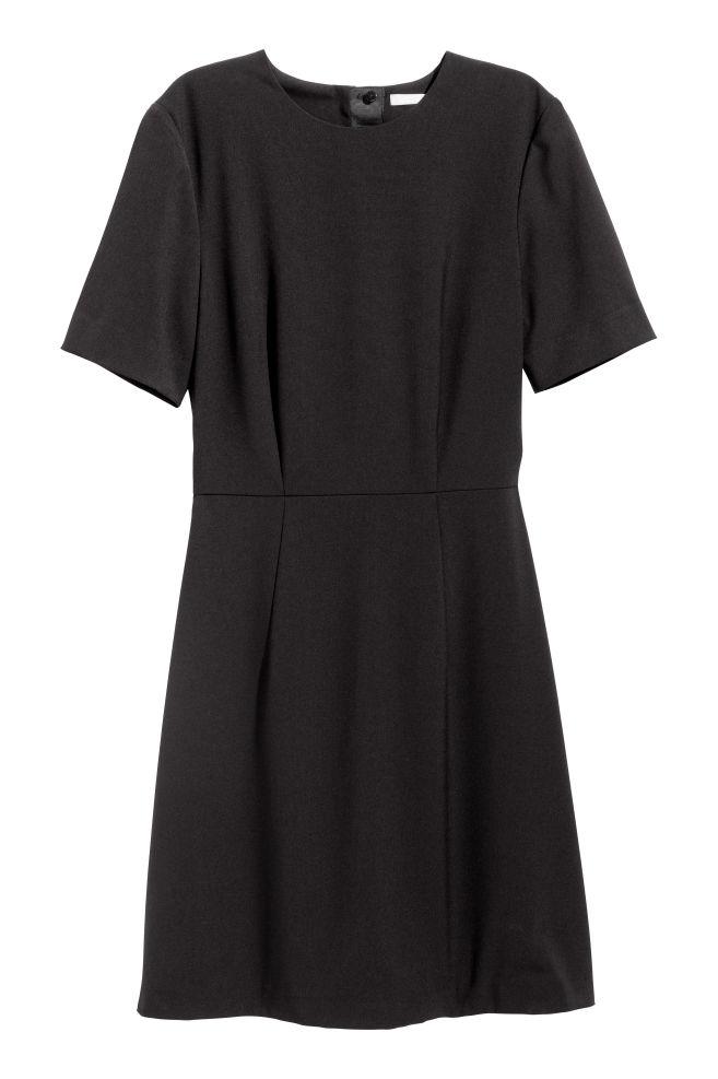 ecd03ee32405aa Getailleerde jurk - Zwart - DAMES