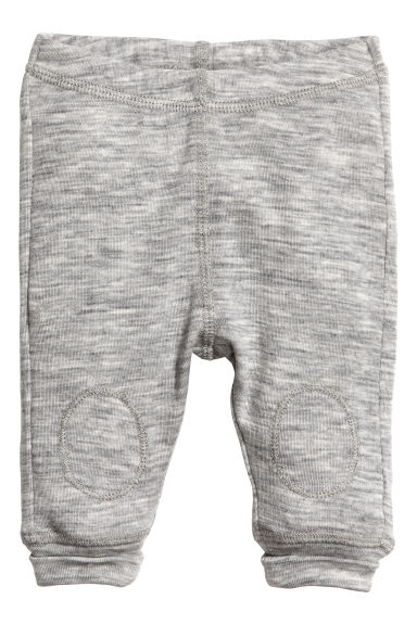 Wool jersey leggings - Grey marl - Kids | H&M CN