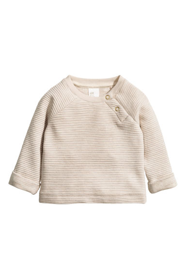 Textured sweatshirt - Light beige - Kids | H&M CN