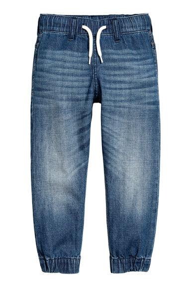 Pantalon jogger en denim - Bleu denim - ENFANT | H&M FR