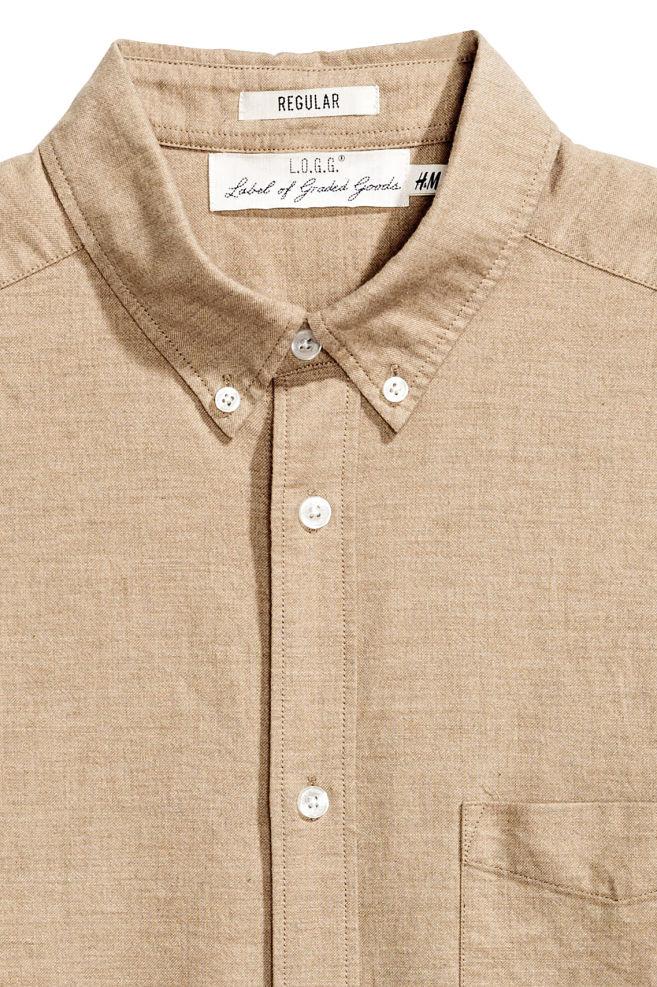 05668fc853 ... Oxford ing - Bézs - FÉRFI   H&M ...