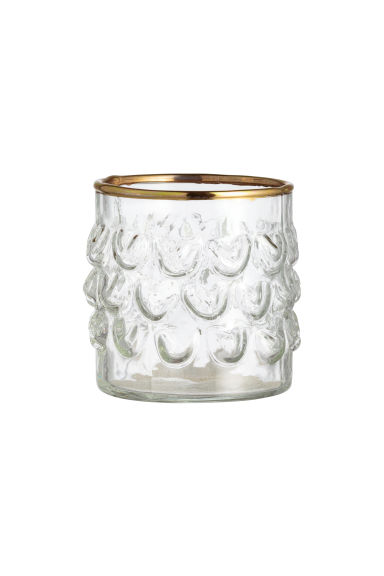 Photophore - Verre transparent/doré - Home All | H&M FR