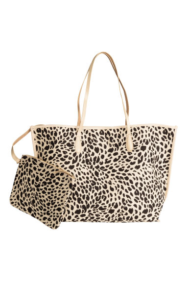 Shopper with a pouch - Leopard print - Ladies | H&M CN