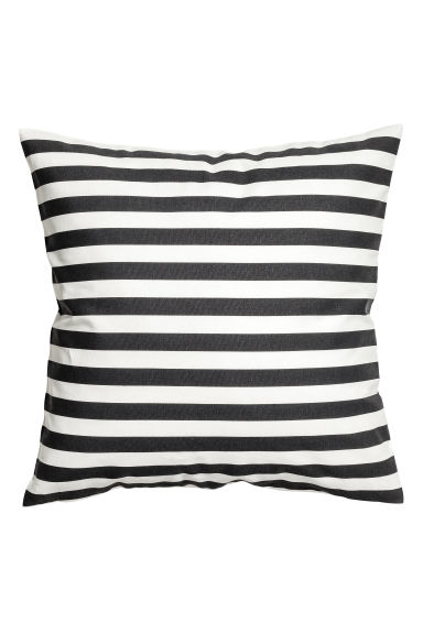 Striped cushion cover - White/Anthracite - Home All | H&M GB