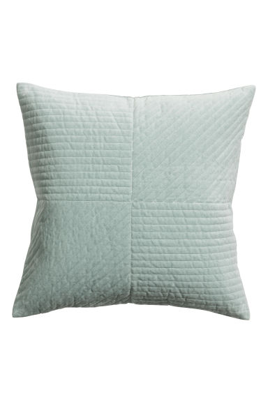 Quilted velvet cushion cover - Dusky green - Home All | H&M GB
