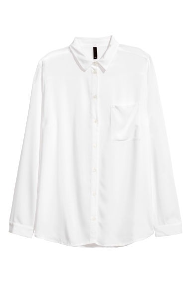 Viscose shirt - White -  | H&M