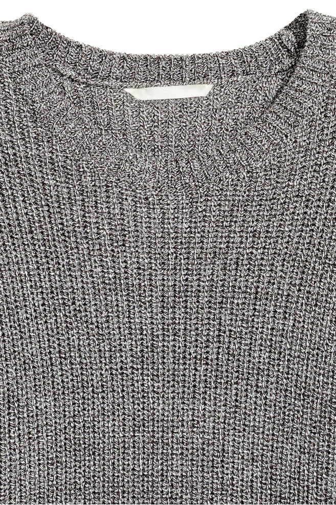 ... Knitted jumper - Black White marl - Ladies  5ea353856