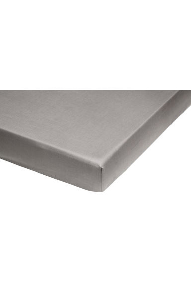 Fitted cotton sheet - Grey - Home All | H&M CN