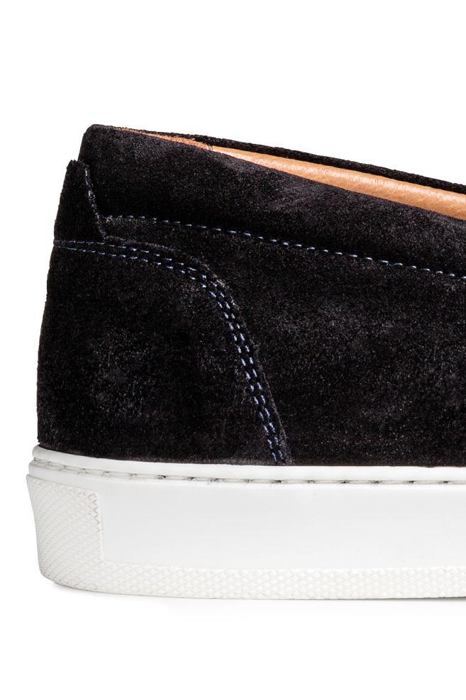 d4fb88c9832 ... 레더 슬립온 슈즈 - 다크 블루 - Men | H&M ...
