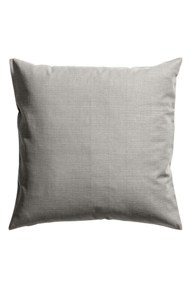 Slub-weave cushion cover - Grey - Home All | H&M GB