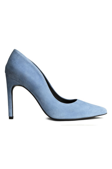 Suede court shoes - Light blue - Ladies | H&M GB