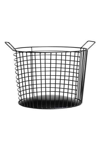 Large metal wire basket - Black -  | H&M CN