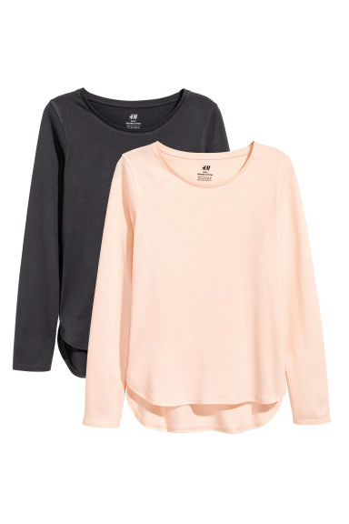 2-pack tops - Dark grey - Kids | H&M