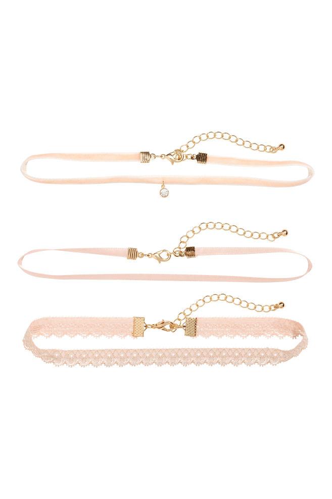 3-pack choker - Puderrosa - DAM | H&M SE 1