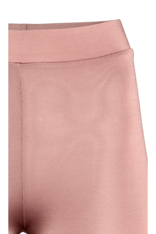 9b68e2de16eed1 ... Leggings with a sheen - Powder pink - Ladies | H&M ...