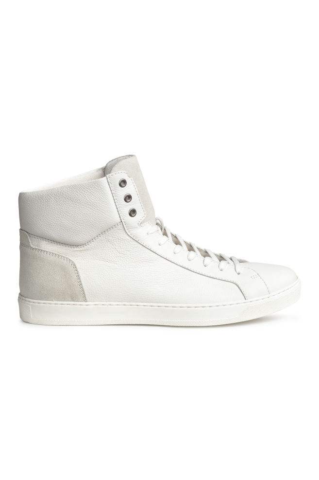 416b2cbb130 Hoge sneakers - Wit - HEREN | H&M ...